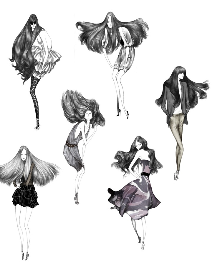 Фэшн иллюстрации девушек