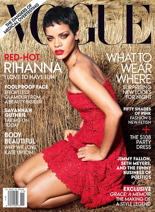 Рианна в объективе Энни Лейбовиц для Vogue