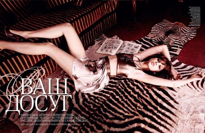 Эллен фон Унверт и Анаис Пулье для Vogue Russia