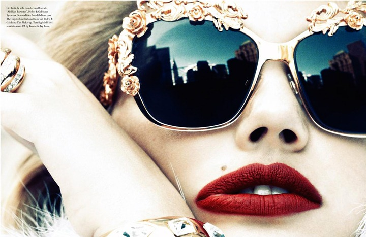 Кейт Аптон в фотосессии и видеоролике для Vogue Italy