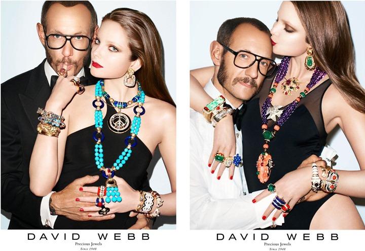 Терри Ричардсон и Энико Михалик в красочной фотосессии для David Webb