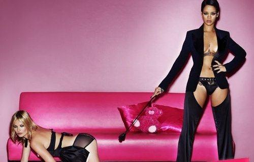 Откровенная фотосессия Рианны и Кейт Мосс для V Magazine