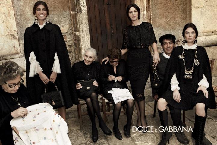 Моника Беллучи, Бьянка Балти и Бьянка Брандолини в новой рекламе Dolce & Gabbana