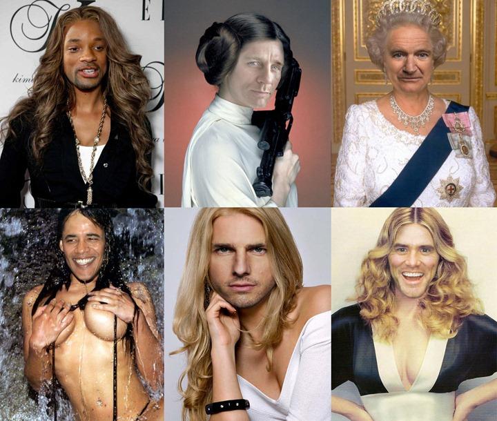 Мужчины знаменитости в образе женщин. Часть 2