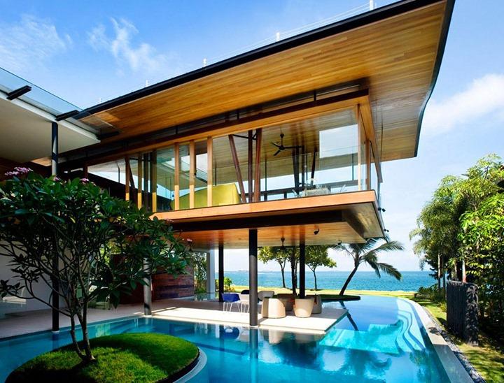 Экзотический дом Fish House в Сингапуре