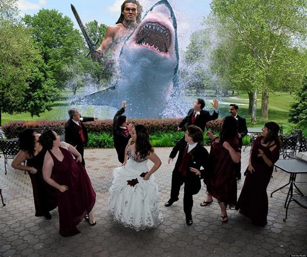 Горячий тренд: веселые фотографии свадебных атак