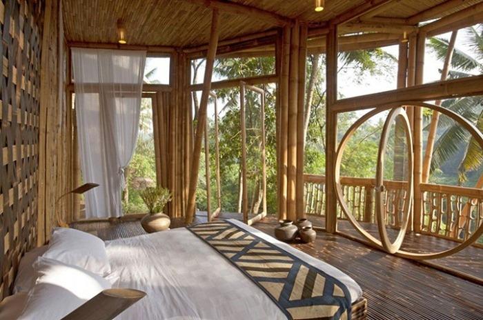 Бамбуковые дома на Бали