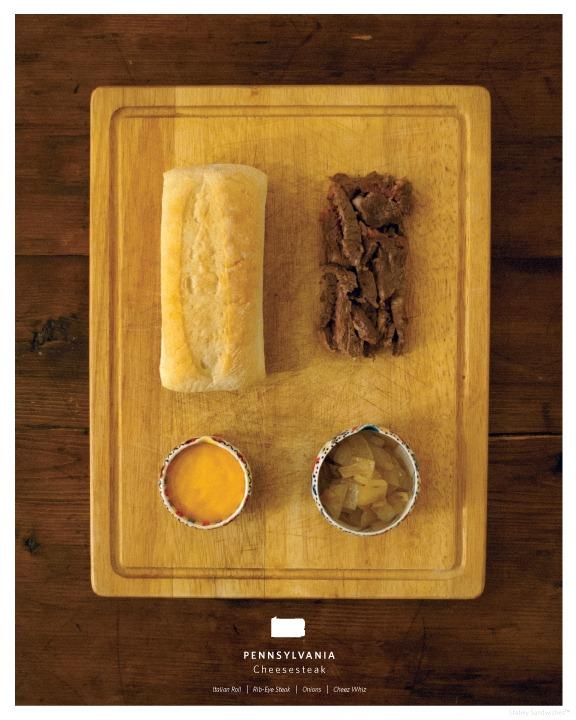 50 штатов Америки в сэндвичах