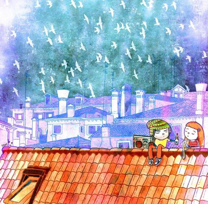 Причудливые иллюстрации детей, Christina Tsevis