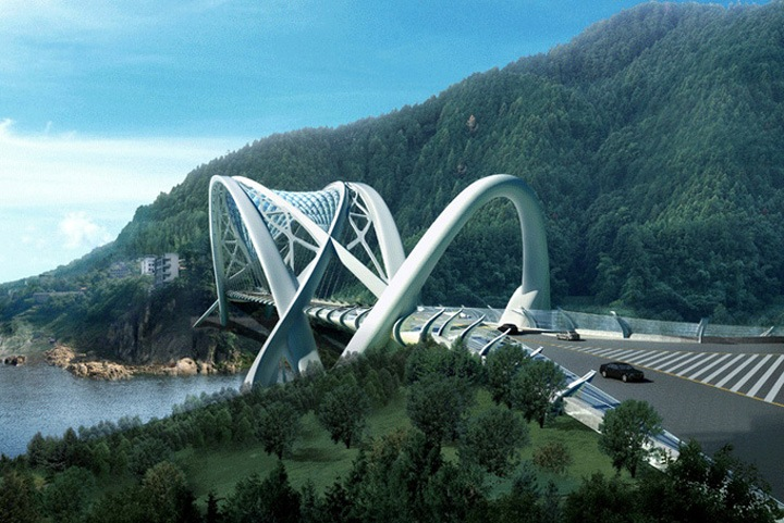 Футуристический проект Dragon Eco Bridge