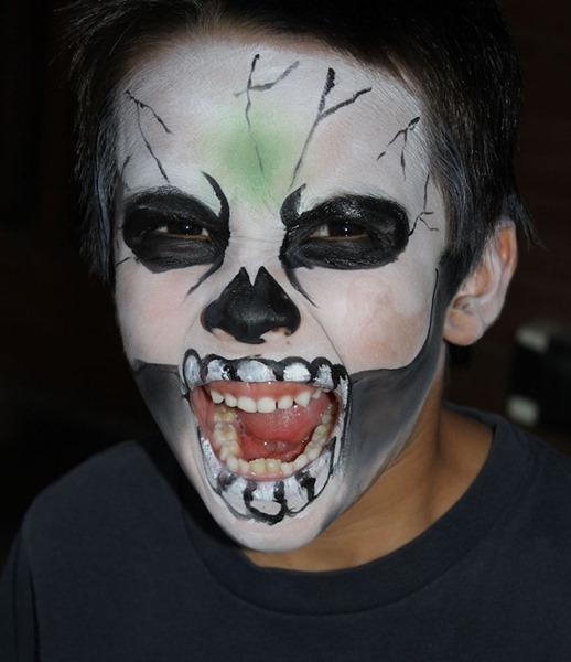 Невероятные рисунки на лице к Halloween