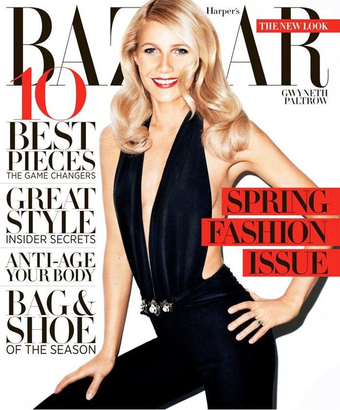 Гвинет Пэлтроу на обложке Harpers Bazaar, май 2013