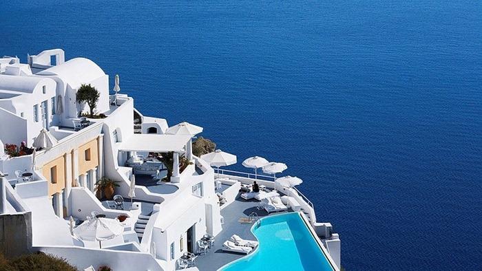 Отель Katikies на Санторини, Греция