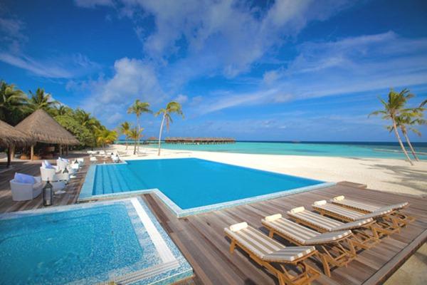 Роскошный курорт Maafushivaru на Мальдивах