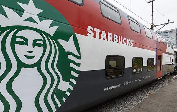 Поезд в Швейцарии превратился в кофейню Starbucks