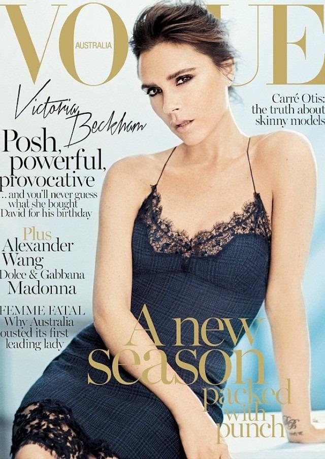 Виктория Бекхэм (Victoria Beckham) на обложке Vogue (сентябрь 2013)