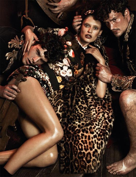 Итальянская фрейлина Бьянка Балти в рекламе Dolce & Gabbana