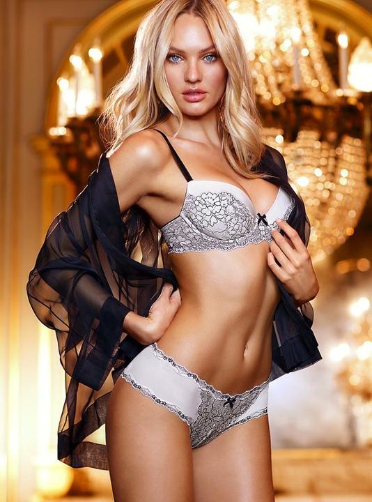 Кэндис Свейнпол в нижнем белье Victoria's Secret