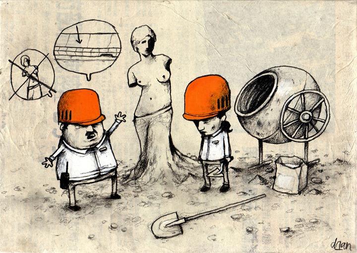 Стрит   арт от художника Dran
