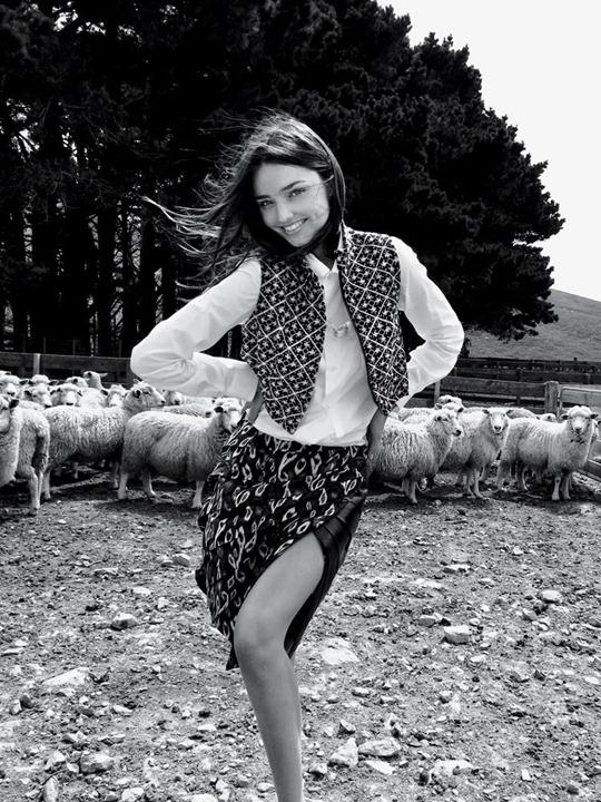 Миранда Керр в фотосессии Орландо Блума