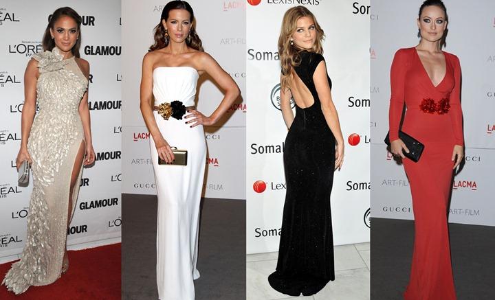 Знаменитости в вечерних платьях
