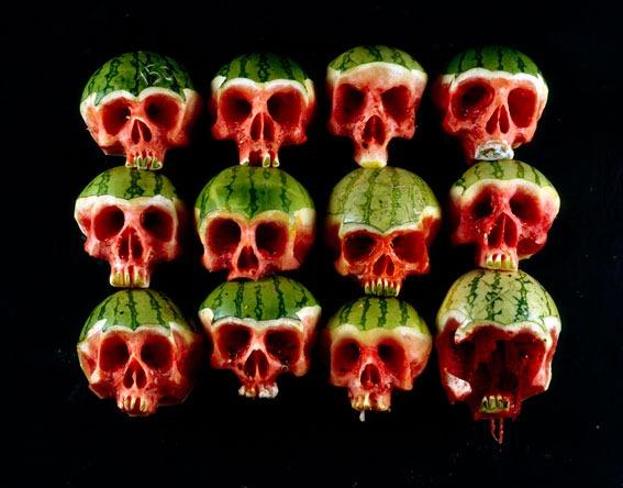 Фруктово овощные черепа Dimitri Tsykalov