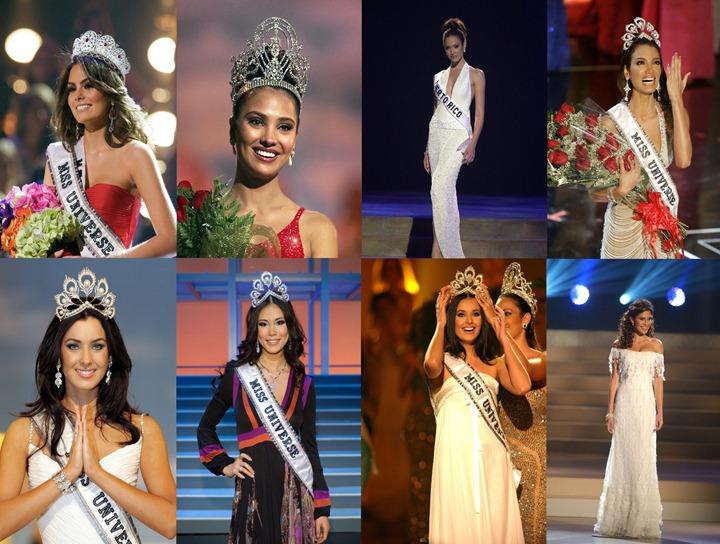 """Все победительницы конкурса """"Мисс Вселенная"""" с 2000 года"""