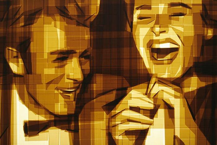 Невероятное искусство с помощью коричневой упаковочной ленты