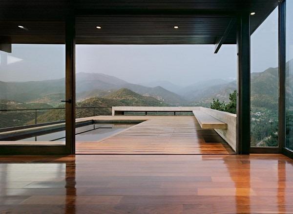 Захватывающий пейзаж на Casa Farellones в Чили