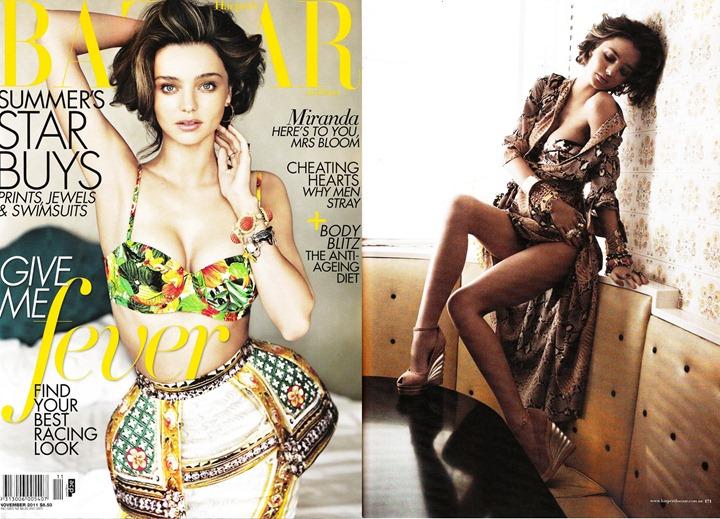 Миранда Керр в откровенной фотосессии для Harper's Bazaar