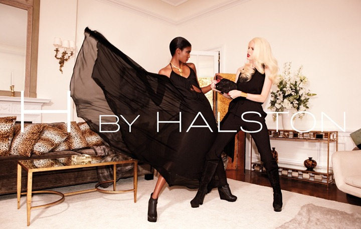Каролин Винберг и Сесили Лопес в рекламной кампании H by Halston