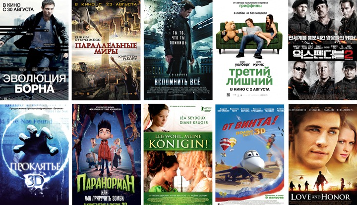 Кинопремьеры августа 2012