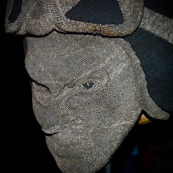 Воспламеняющая скульптура из спичек от David Mach