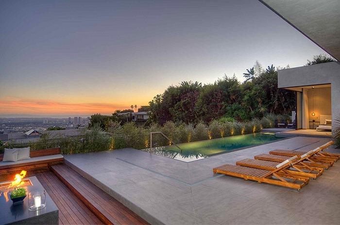 Частный дом со стильным интерьером в Лос Анджелесе и захватывающим видом на город