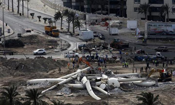 Бахрейнский власти снесли памятник Перл Раундэбаут