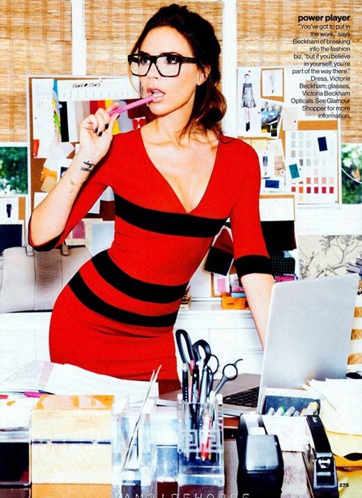 Викотрия Бекхэм в красочной фотосессии для Glamour