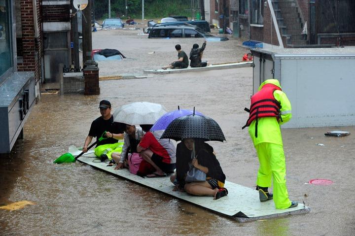 Наводнение в Южной Кореи