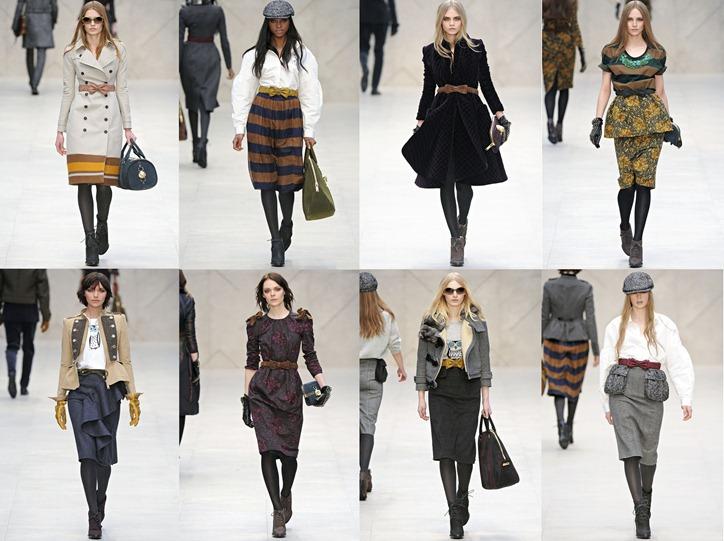 Неделя моды в Лондоне: Burberry осень 2012