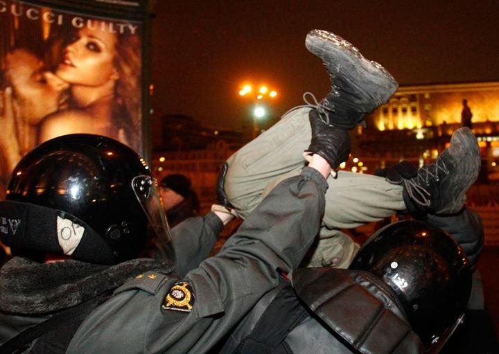 Митинги в Москве против результатов выборов