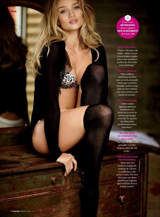 Супермодель Рози Хантингтон Уйатли в фотосессии для Maxim