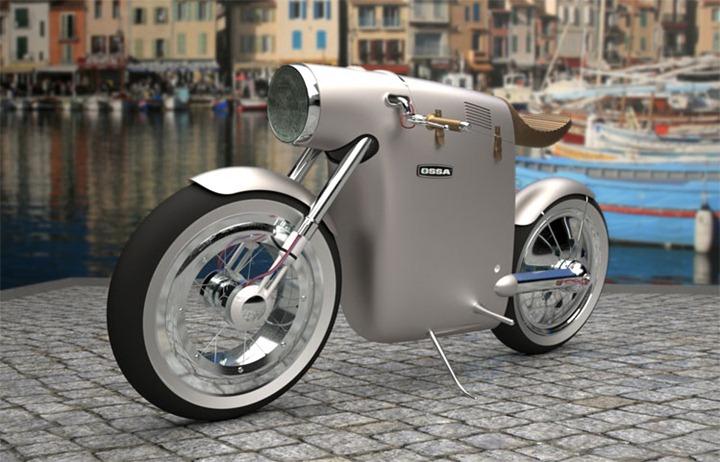 Концепт электромотоцикла Monocasco в ретро стиле