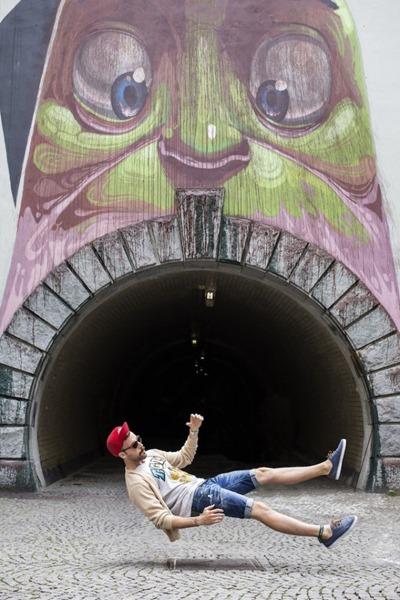 Интересные фотографии людей падающих с легкостью