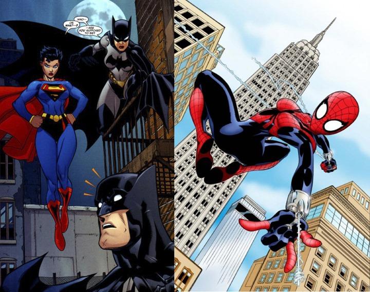 В костюмах известных супергероев