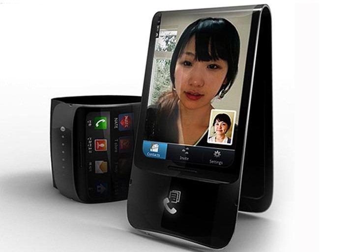 """""""Гнущийся"""" смартфон от Samsung поступит в продажу в 2012 году."""