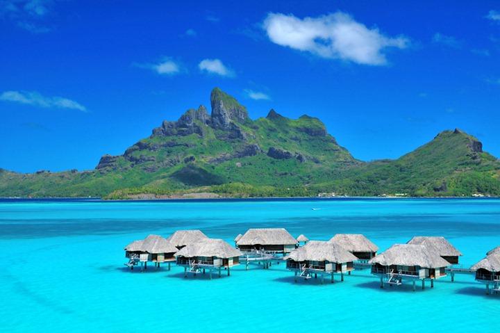 Тропический рай в отеле Four Seasons на Бора Бора