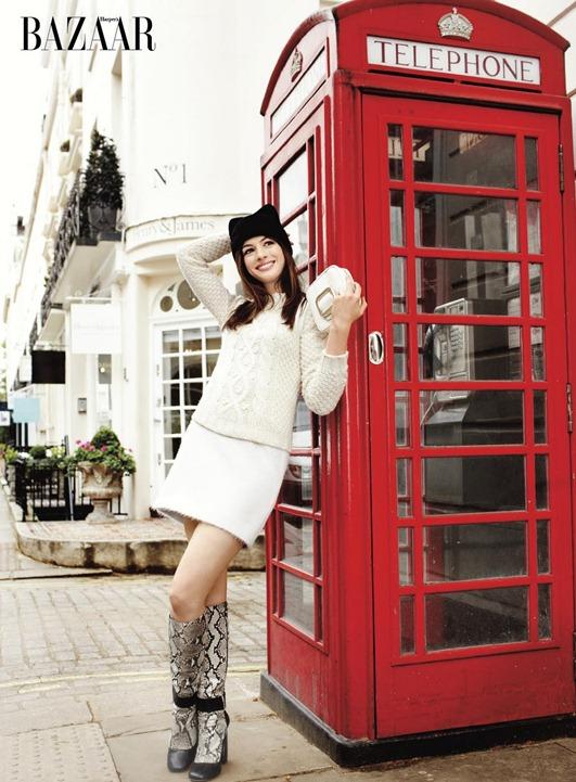 Энн Хэтэуэй для августовского номера Harper's Bazaar