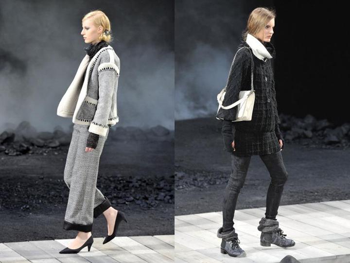 Неделя моды в Париже: модели Chanel маршировали по подиуму в солдатских ботинках